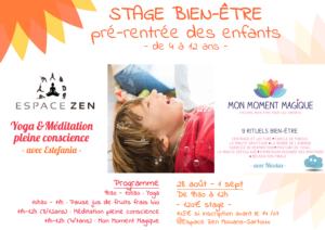 Stage Yoga & bien-être pré-rentrée des enfants @ Espace ZEN Mouans-Sartoux